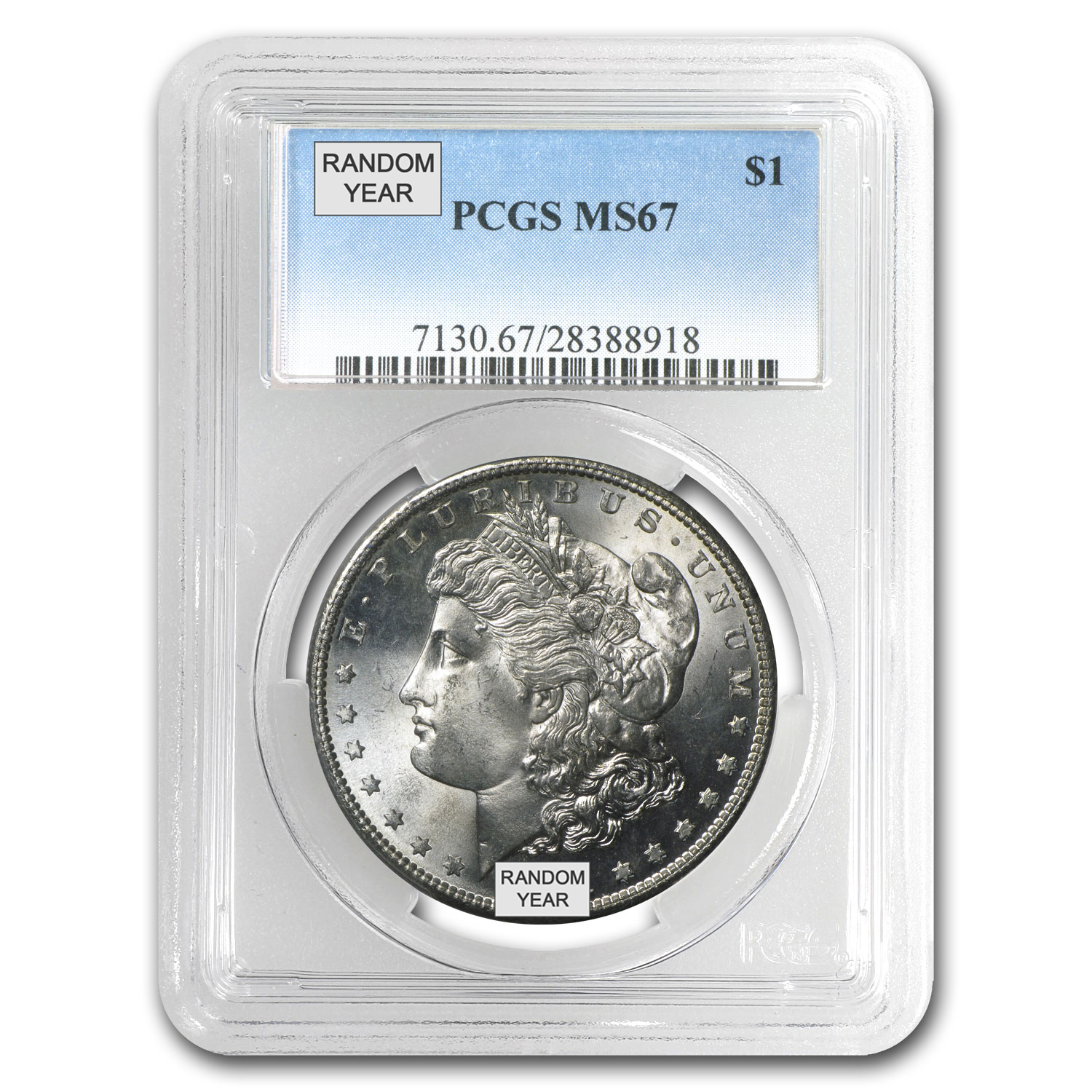1878-1904 Morgan Dollars MS-67 PCGS